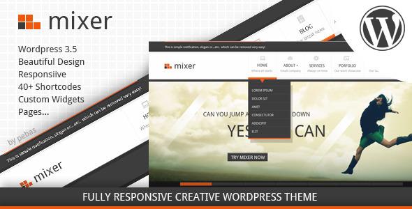 Mixer – Creative Responsive WP Theme