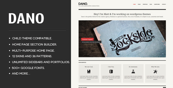 Dano Multi-purpose & Responsive WordPress Theme