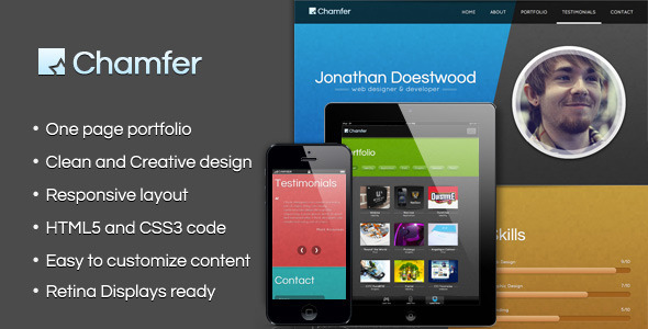 Chamfer – One Page Responsive Theme