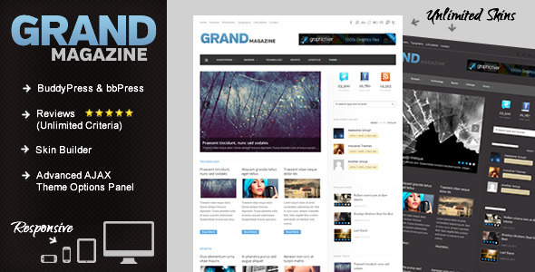GrandMag – BuddyPress Magazine/Review Theme