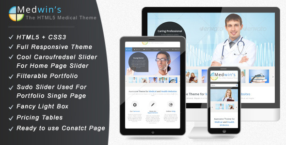 Medwin – Responsive Medical WordPress Theme