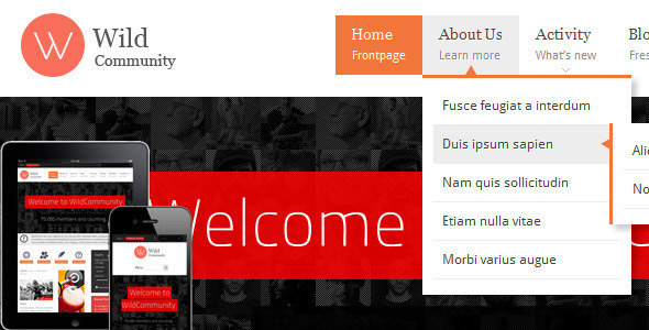 WildCommunity – BuddyPress Theme