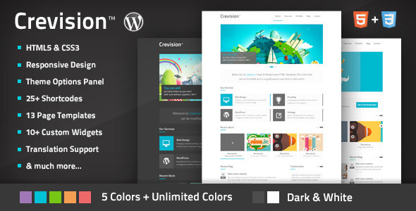 Crevision – Responsive WordPress Theme