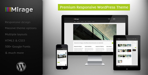 Mirage – Premium Responsive WordPress Theme