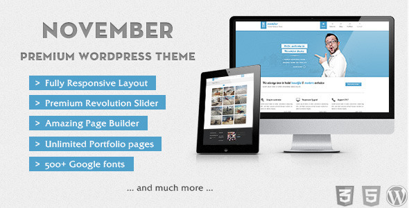 November – Clean & Modern WordPress Theme