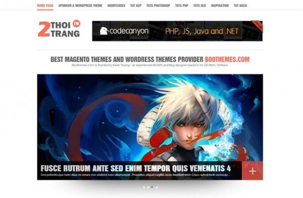 2thoitrang  WordPress Theme Free Download