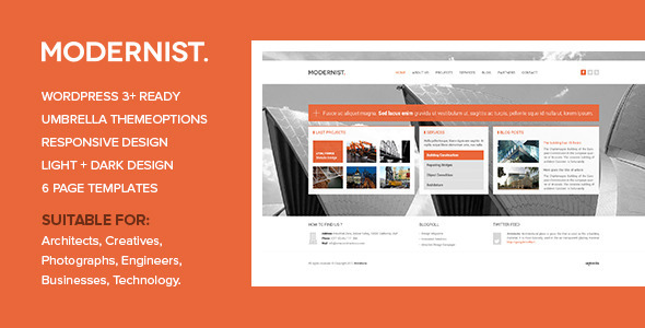 Modernist – Architecture&Engineer WordPress Theme