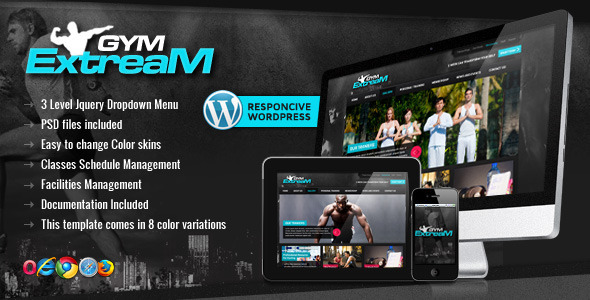 Gym Extream – Gym and Fitness WordPress Themeм