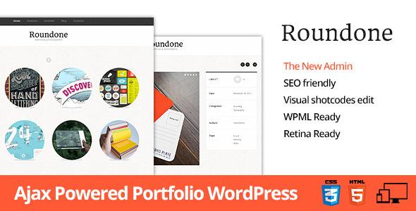 Roundone – Ultimate Portfolio WP Theme