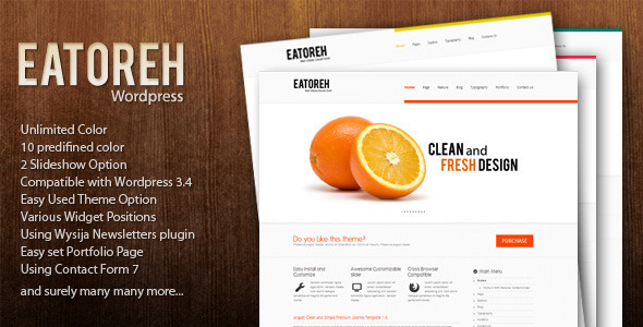 Eatoreh – Clean and Fresh WordPress Themes