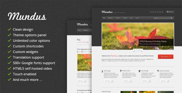 Mundus – Business and Portfolio WordPress Theme