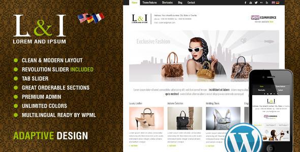 Lorem & Ipsum: Universal Corporate WordPress Theme