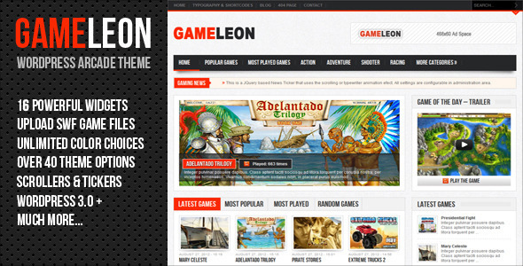 Gameleon – WordPress Arcade Theme
