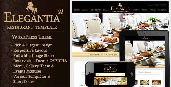 Elegantia – Restaurant and Cafe WordPress Theme