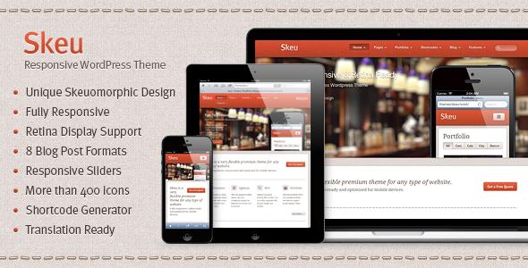 Skeu — Skeumorphic Responsive WordPress Theme