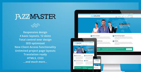 JazzMaster – Responsive Business WordPress Theme