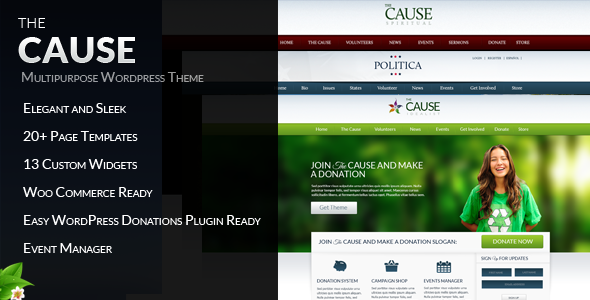 The Cause – Non-Profit WordPress Theme