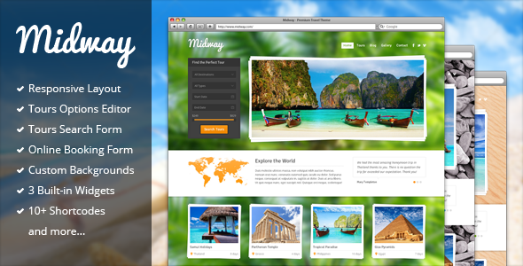 Midway – Responsive Travel WP Theme