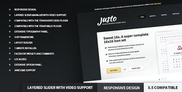 Justo – Responsive WordPress PortfolioTheme