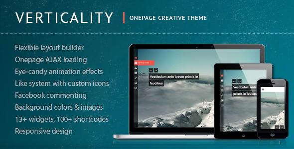 Verticality – Onepage Photography Theme
