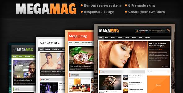 MEGAMAG – A Responsive Blog/Magazine Style Theme