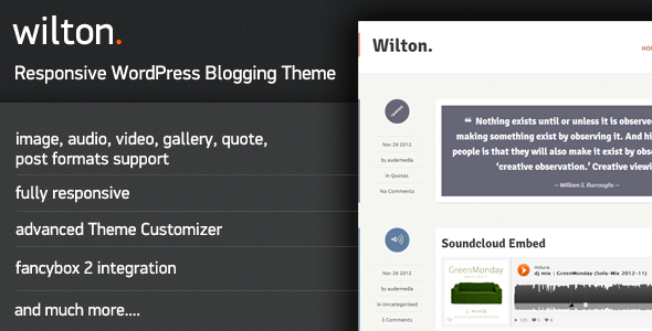 Wilton – Responsive WordPress Blogging Theme