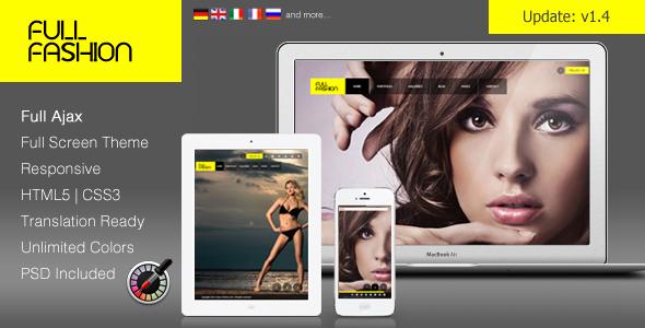 """""""Full Fashion"""" – an Ajax Fullscreen WP Theme"""