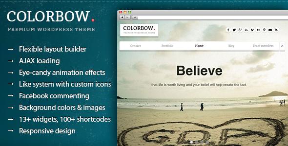 Colorbow – A Onepage Creative Portfolio Theme