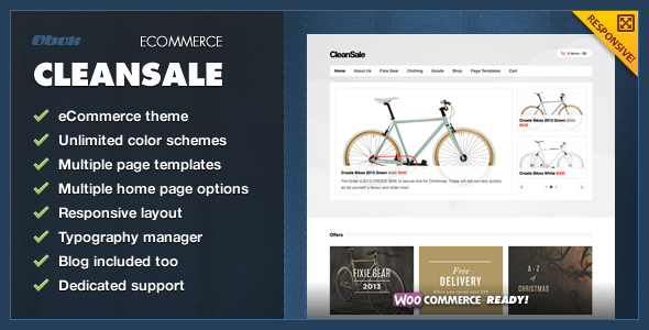 CleanSale – WordPress eCommerce Theme