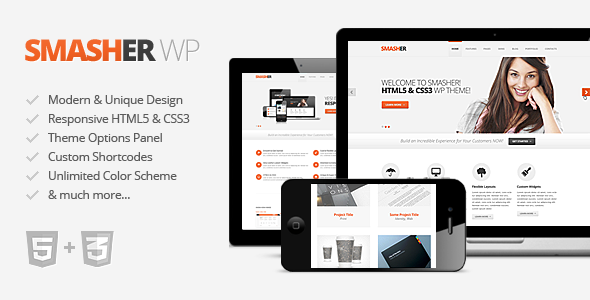 Smasher Modern WordPress Theme
