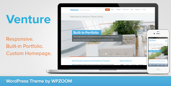 Venture – Business & Portfolio WordPress Theme