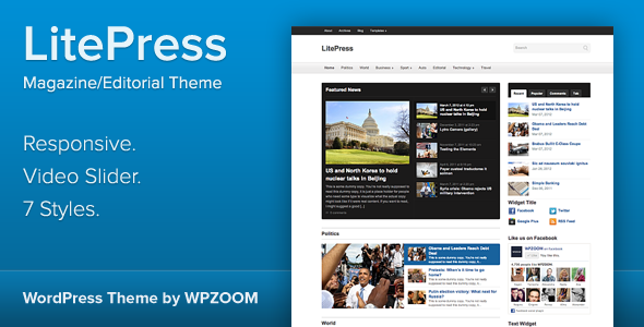 LitePress – Responsive Magazine WordPress Theme