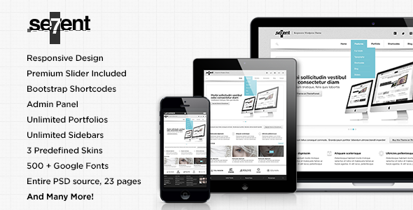 Sevent – Responsive Multipurpose WordPress Theme
