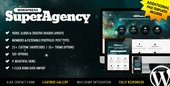 Super Agency – Responsive WordPress Single Page