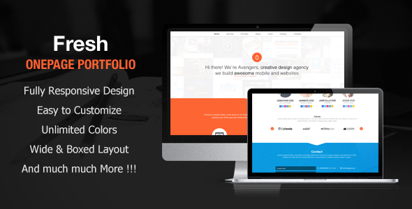 Fresh Portfolio Onepage Multipurpose Theme