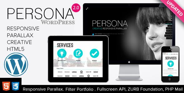 Persona – WordPress Responsive Creative Parallax