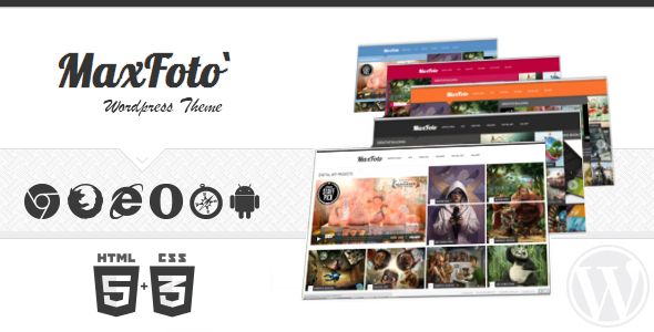 MaxFoto – WordPress Theme Clean Gallery Blog