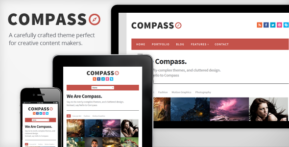 Compass – Responsive WordPress Theme