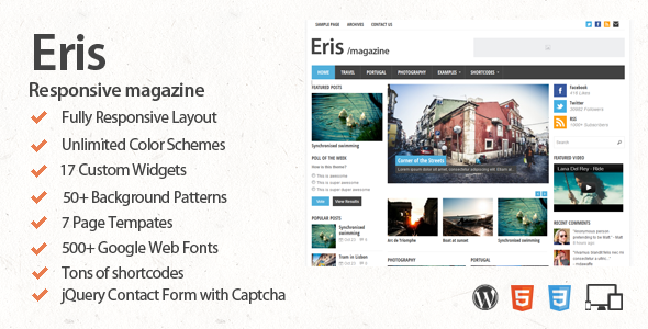 Eris – Responsive WordPress Magazine Theme