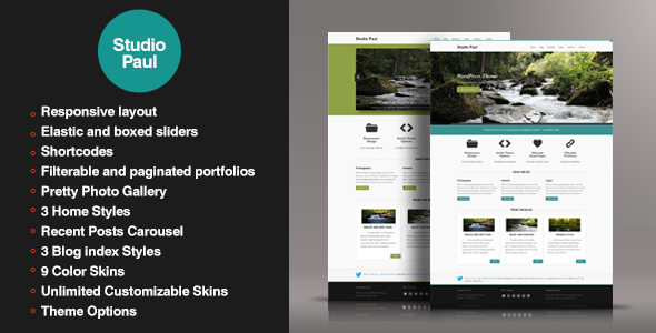 Studio Paul – Responsive WordPress Theme