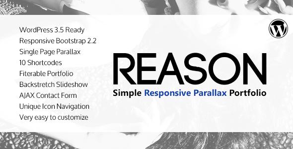 Reason – WordPress Responsive Parallax Theme