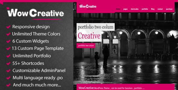WowCreative – Responsive Portfolio Theme