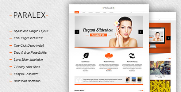 Paralex – Multi-Purpose Responsive WP Theme