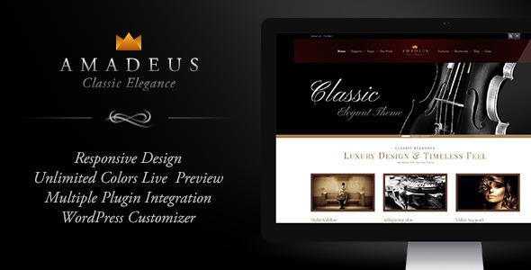 AMADEUS, Classic & Elegant WP Theme