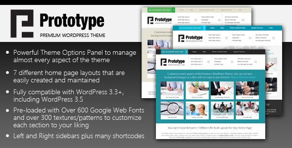 Prototype – Premium WordPress Theme