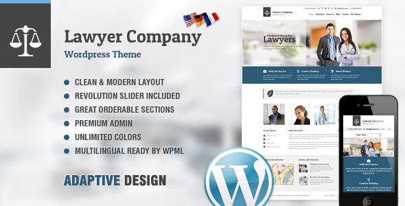 Lawyer: Multi-Purpose Adaptive WordPress Theme