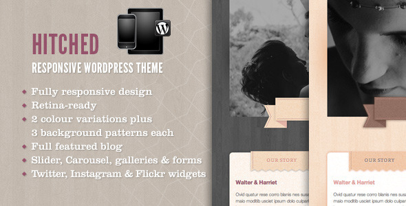 Hitched – Response WordPress Wedding Theme