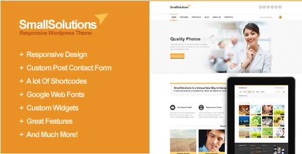 Smallsolutions – Responsive WordPress Template
