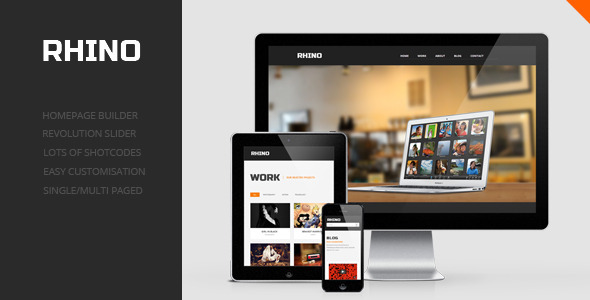 Rhino – Single Page Responsive WordPress Theme