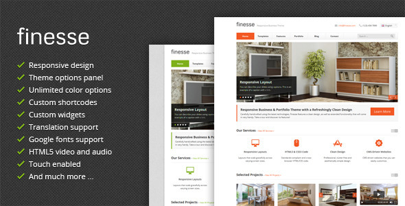 Finesse – Responsive Business WordPress Theme